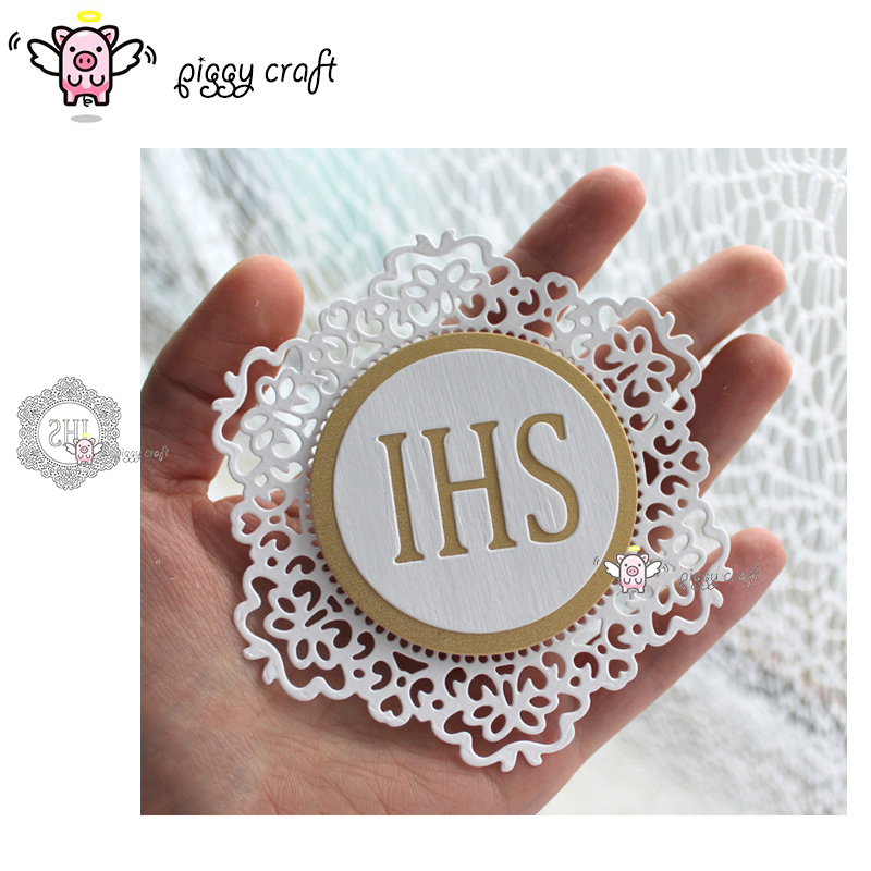 Image 1 - Piggy Craft metal cutting dies cut die mold IHS letter lace frame Scrapbook paper craft knife mould blade punch stencils dies-in Cutting Dies from Home & Garden