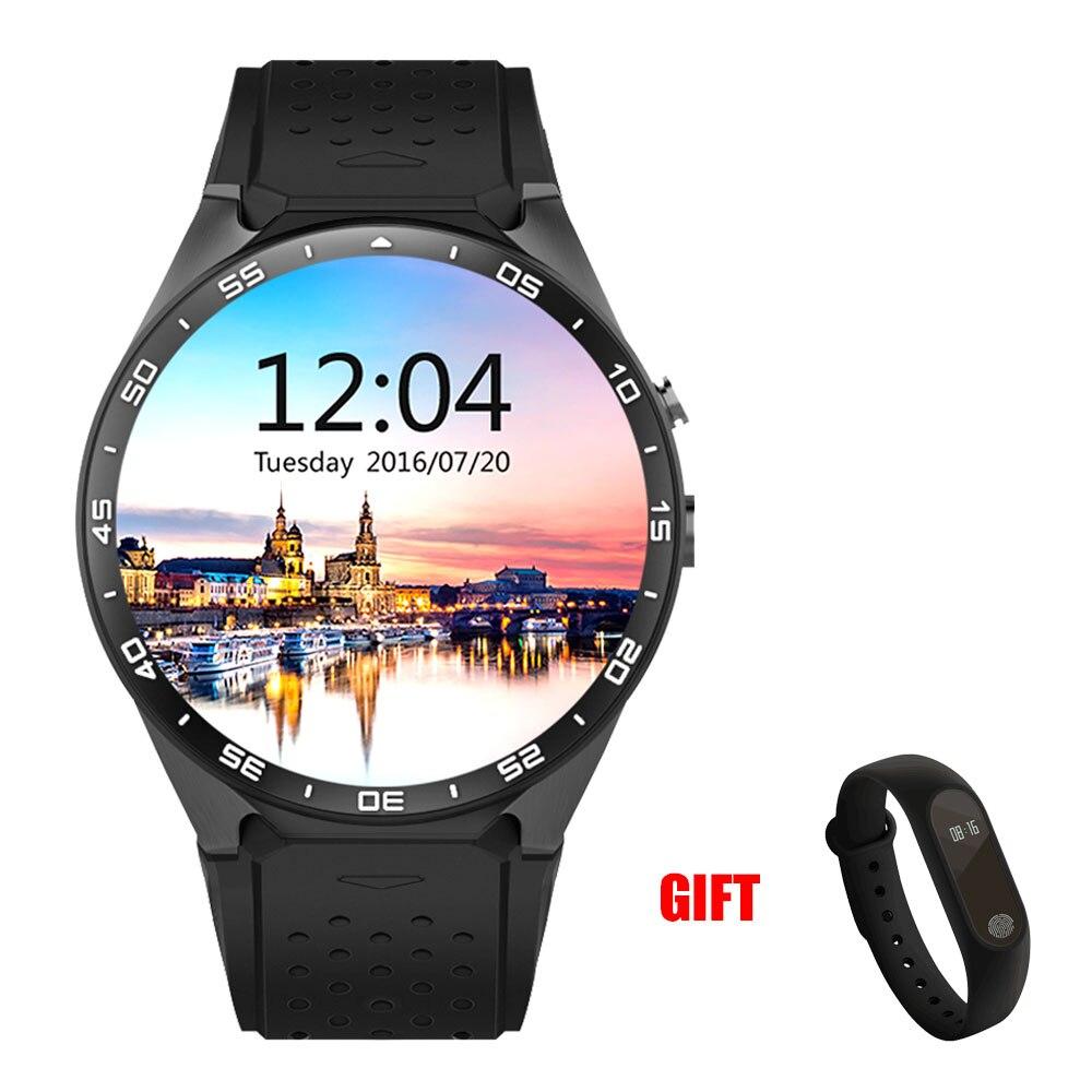 Kaimorui Montre Smart Watch KW88 Fréquence Cardiaque Podomètre Soutien SIM carte GPS WIFI Smart Bande + M2 Smart Bracelet Android et IOS Téléphone