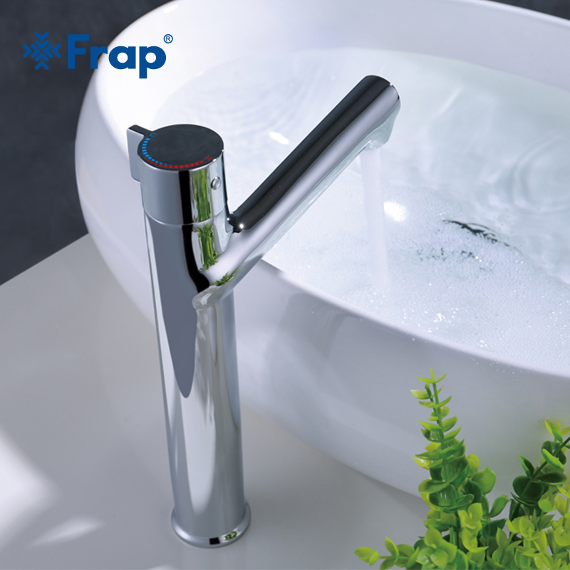 Frap New Arrival 1 set tall bath sink Faucet Deck Mounted Single Lever Single Hole Cold & Hot Bathroom Basin Mixer Tap Y10079 polyscience single hole digital shanghai set