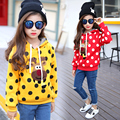 New winter long children in children's wear female fleece jackets han edition thickening of cuhk