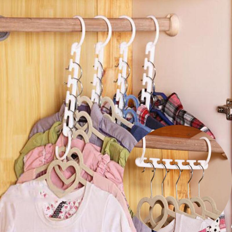 Folding Multi-Functional Magical Hanger 3D Space Saving Hanger Magic Clothes Hanger With Hook Household Clothes Storage Tool