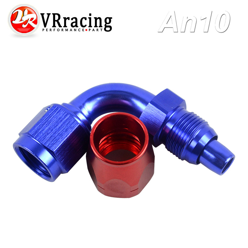 VR RACING - 10AN 10 AN 90 DEGREE SWIVEL AN OIL FUEL GAS LINE HOSE END FITTING ADAPTOR CUTTER STYLE VR-SL3090-10-311