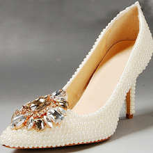 Free Shipping Fashion Pointed Toe Shoes Ivory Wedding Shoes For Bride Sexy Evening Party Prom Shoes