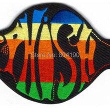 """"""" PHISH FISH музыкальная полоса Железный На пластырь 50% выкл. Для 10 лотов многоцветной логотип передачи образец аппликации Рок Панк значок"""