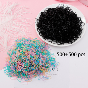 1000PCS/Lot Disposable Gum For Hair Children TPU Rubber Bands Ponytail Holder Elastic Hair Band Girls Scrunchie Hair Accessories 1