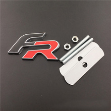 Car Styling for FR Logo Sticker Metal Front Grille Emblem Badge Decal for SEAT Ibiza Leon Altea Alhambra Cordoba Cupra Toledo rhino tuning car lettering logo sign emblem auto styling racing sticker for leon cupra 2010 r badge 20798