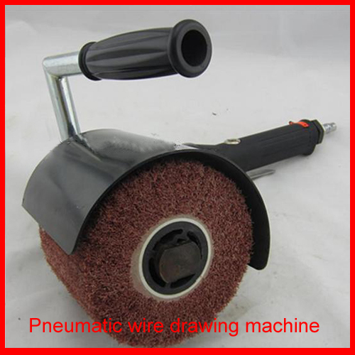 Pneumatic Wire Drawing Machine Portable Air Brushed Mirror