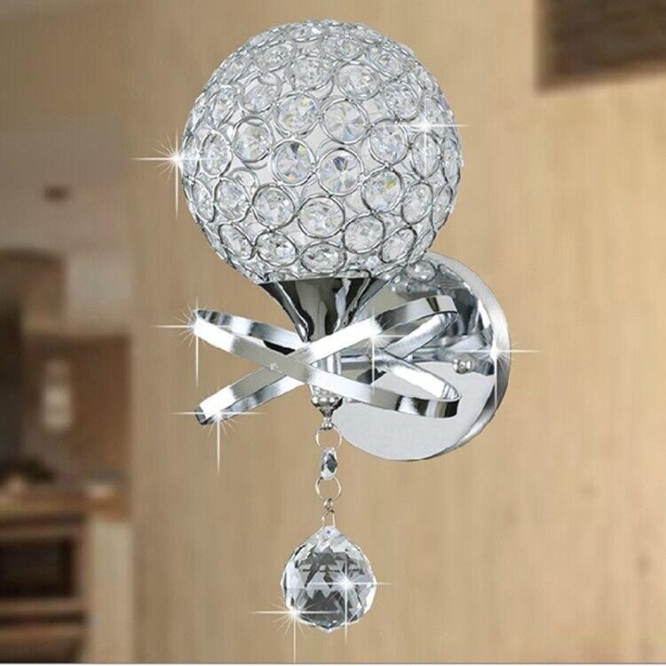 Современный домашний настенный светильник бра декоративный алюминиевая проволока абажур Ночник с подставкой Кристалл переключатель с рег