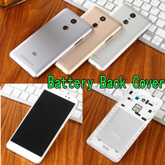 Bateria Original tampa traseira para Xiaomi Redmi nota 3 telefone de Metal de luxo para Xiaomi Redmi nota