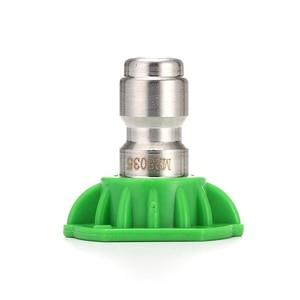 "Image 5 - ROUE Real 1/4 ""Rvs 4000 Psi Quick Connect Hogedrukspuit Tip 0 15 25 40 65 Graden nozzle 4.0 Orifice Maat"