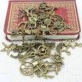 Dulce Campana Mixtos 60-80pattern 100 unids Charms Tallado Clasificado Granos de Los Colgantes del Metal de Pandent de la Aleación Plateada de Bronce Antigua Diy Del Grano