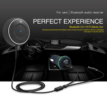 CDEN Wireless Bluetooth V4.0 Receiver Dual USB Charger Car Kit  NFC AUX 3.5mm Audio Talking Music Adapter Handsfree Mic