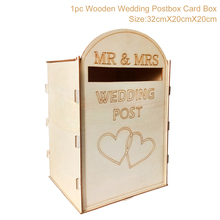 FRIGG Wooden Pine Fully Assembled Personalised Wedding Card Post Box Royal Mail Style Party Decoration New Hot Decor