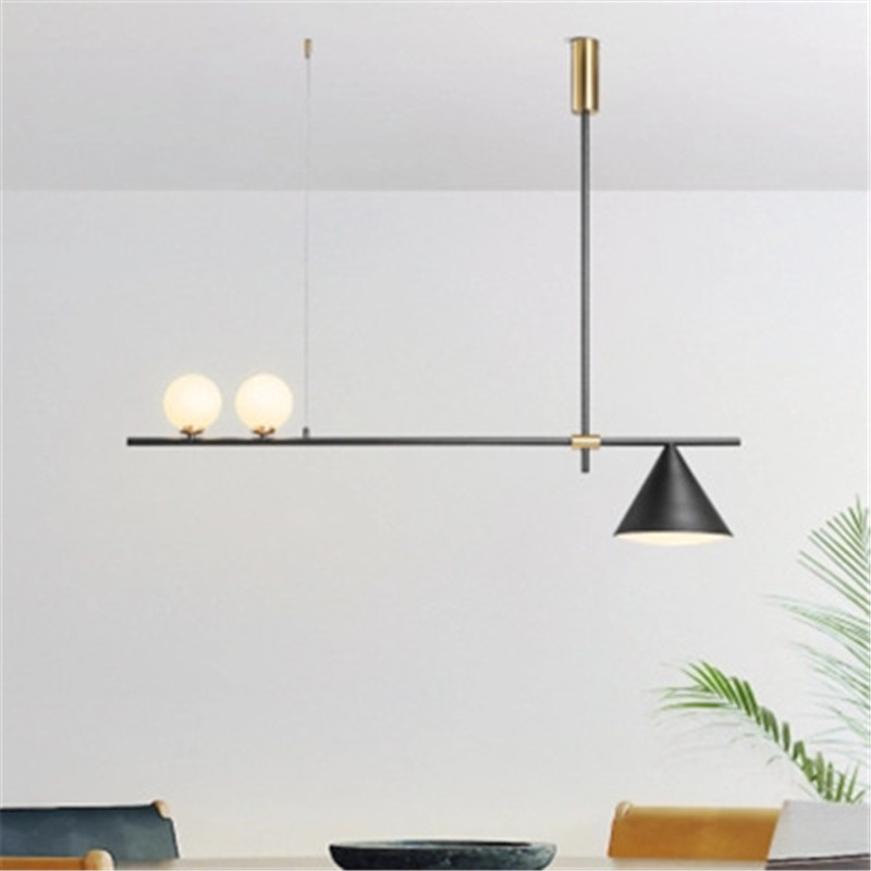 Image 2 - Nordic Minimalist Magic Beans Design Pendant Lamp Concise Parlor Music Restaurant Coffee Dining Kitchen Led Suspension Light-in Pendant Lights from Lights & Lighting