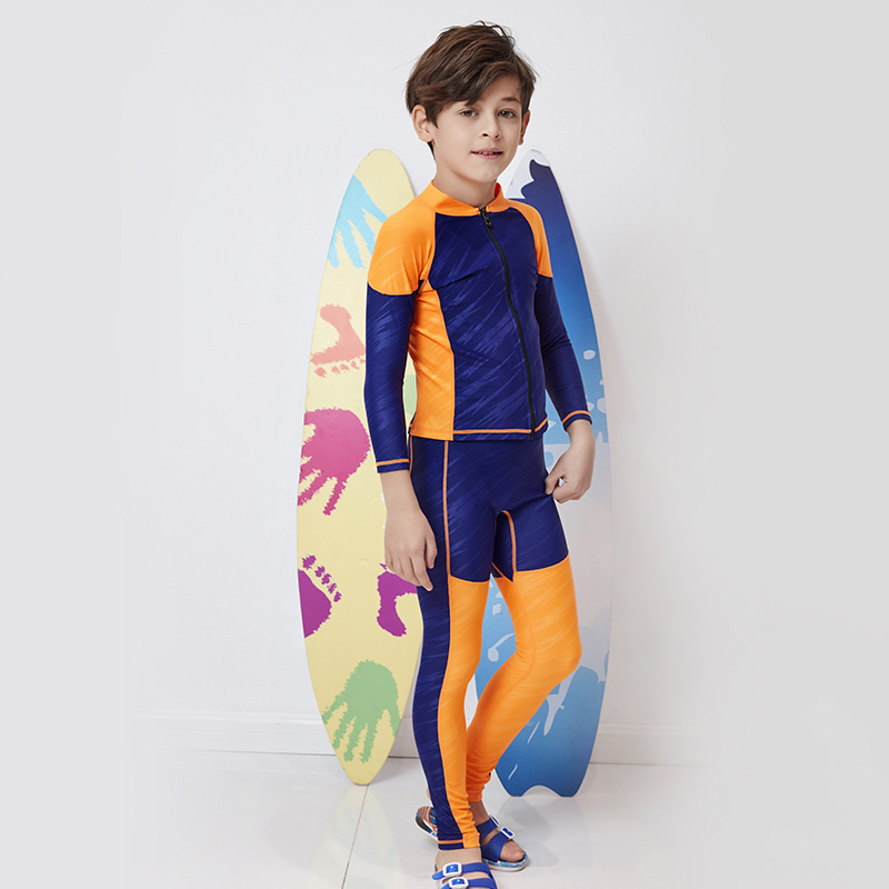 Bathing Suit For Boy Kids Swimsuit Kid's Swimsuits Baby Suits Rash Guard Children Guards Drying Split Boys Primary School 2019