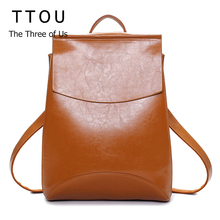 Design PU Leather Backpack Women Backpacks For Teenage Girls School Bags Black Summer Brand Vintage Backpack Mochilas Mujer