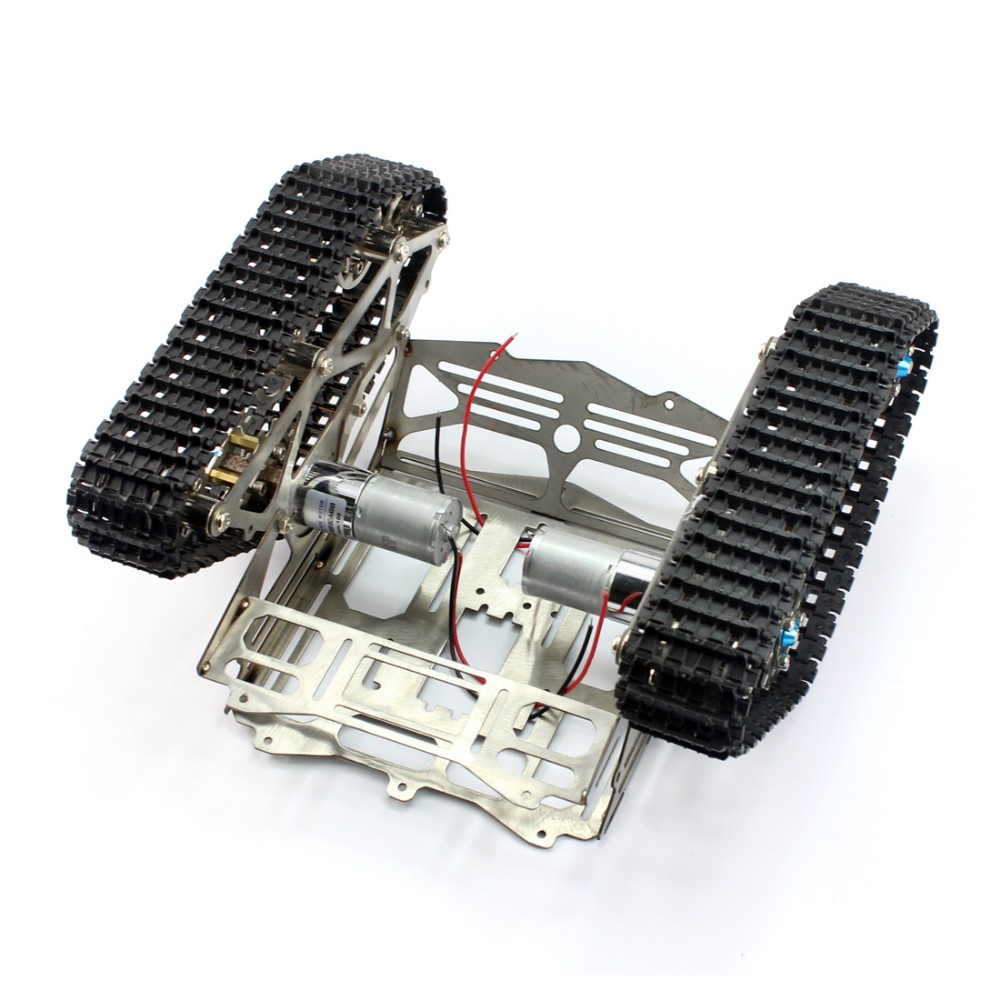 Robot chassis track arduino tank wali w motor