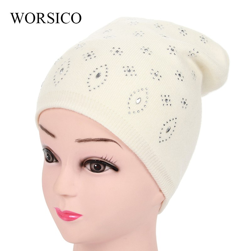2017 Winter Hats For Women Girls Skullies Beanies Wool Elastic Knitted Warm Thick Mask Ski Cap Female Double Layer Hat Soft fibonacci winter hat knitted wool beanies skullies casual outdoor ski caps high quality thick solid warm hats for women