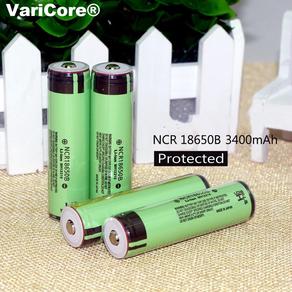 VariCore Proteção New Original 18650 NCR18650B li-ion bateria Recarregável 3400 mAh 3.7 V com PCB Para Panasonic Laptop ues