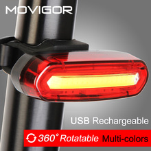 120Lumens USB Rechargeable Bicycle Rear Light Cycling LED Taillight Waterproof MTB Road Bike Tail Light Back Lamp for Bicycle cheap Seatpost Battery MOVIGOR AQY-096 USB Rechargeable Bicycle Tail Light PC shell ABS base Night Riding Kit Light For Bicycle
