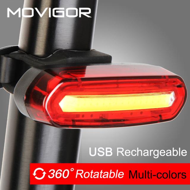 120Lumens USB akumulator rowerowy tylne światło rowerowe LED Taillight wodoodporna MTB Road Bike tail światło tylne Lampa do roweru tanie i dobre opinie Sztyca Baterii W MOVIGOR AQY-096 USB ładowalny rower ogon światło Powłoka PC podstawa ABS Nocny zestaw jeździecki światło dla roweru