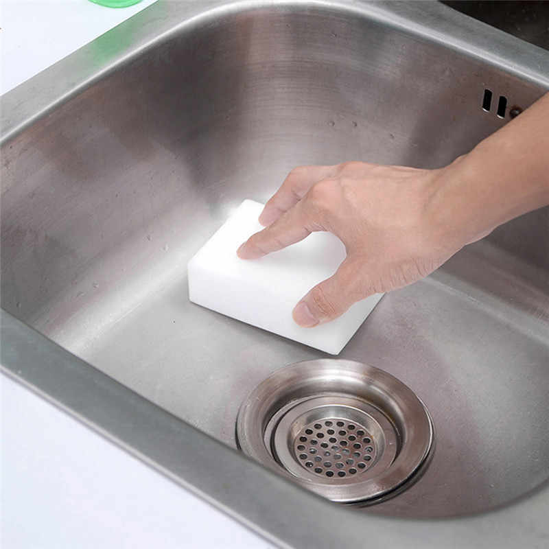 1 PC Hgkj Makanan Pencuci Piring Nano Magic Eraser Sponge Cleaning Multi-Fungsi Busa Pembersih Dapur Alat Aksesoris Kamar Mandi