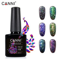 CANNI новые продукты для ногтей замочить стойкая черная база Павлин Гель-лак Звездные блестки для ногтей Цветной Гель-лак