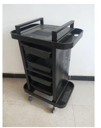 Купить с кэшбэком Beauty salon dedicated stroller household beauty salon stroller three beauty stroller with brake grain.