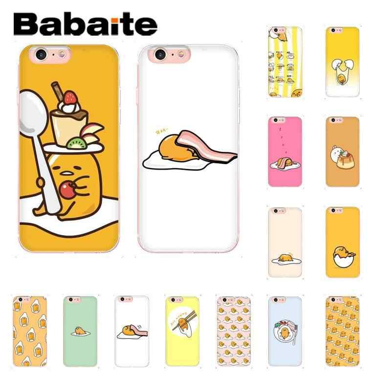 Babaite חמוד יפה gudetama עצלן ביצת חידוש רך טלפון מקרה עבור iPhone8 7 6 6S בתוספת X XSMAX 5 5S SE XR 10 11 11pro 11promax