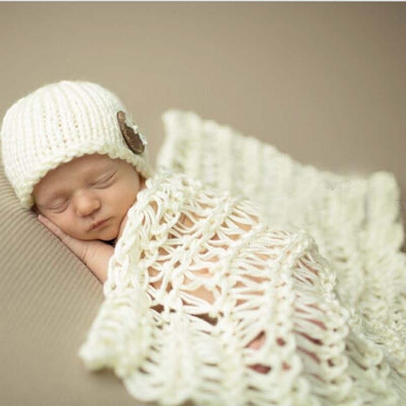 Crochet bebé hechos punto gorros a juego conjunto manta infantil ...