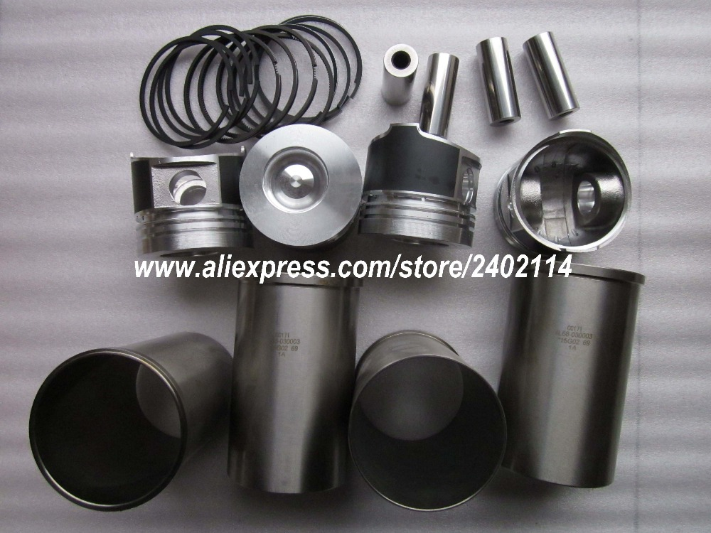 Changchai 4L68, the set of pistons groups with bearings, head gasket, part number: 4L68-030003, 4L68-050001-1, ...... parts for changchai zn490q engine gasket piston rings cylinder liner main bearings water temp sender water pump pistons