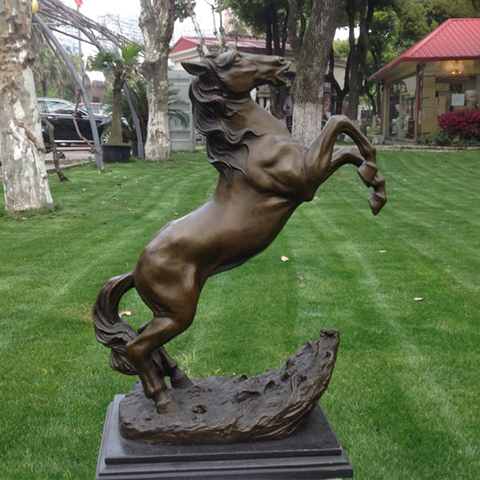 Cavallo di rame ornamenti in bronzo arte artigianato artigianato tesori regalo gioielli cavallo Arredamento Per La Casa inviare leadership Ufficio