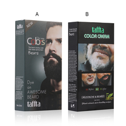 NEW Arrival Black Color Men Beard Black Dye Tint Cream Mustache Semi-permanent Men's Fashion Modelling Tool