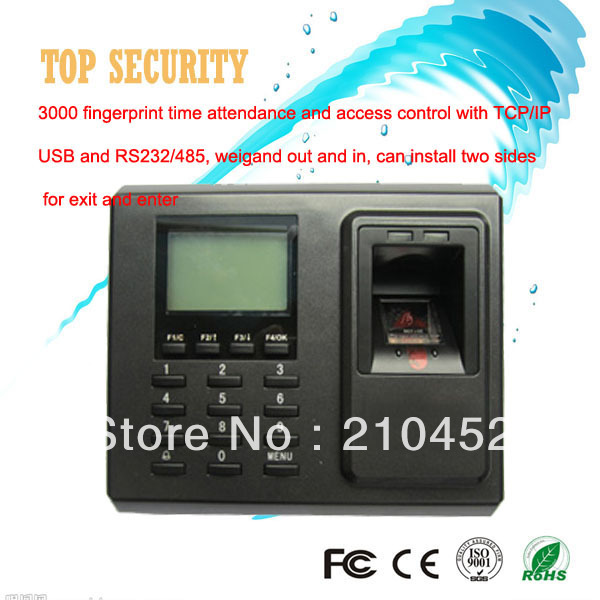F2 fingerprint access control and time attendance optional RFID card or IC card ZK biometric fingerprint door access control
