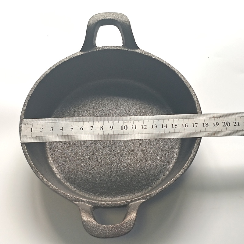 Cast Iron Non-Stick Double Handle Frying Pan 5