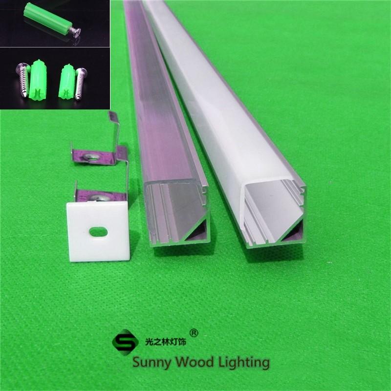 10 stks / partij 40 inch 90 hoek aluminium profiel voor 5050 led - LED-Verlichting