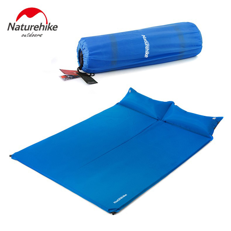 Naturehike Ultralight Inflatable Camping Mat Moisture-proof Double Tent Bed Outdoor Portable Matress Sleeping Pad With Pillow high quality outdoor 2 person camping tent double layer aluminum rod ultralight tent with snow skirt oneroad windsnow 2 plus