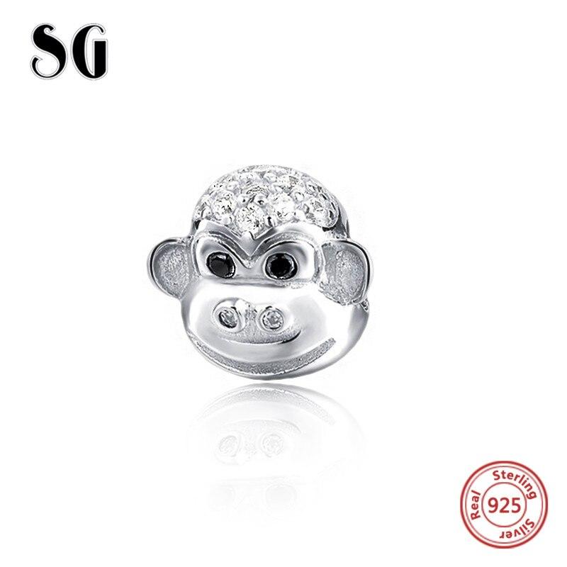 925 Silver Animal Series Monkey Fish Fox Deer Charm Pendant For Women Bracelet Diy Jewelry Jewelry & Accessories Beads