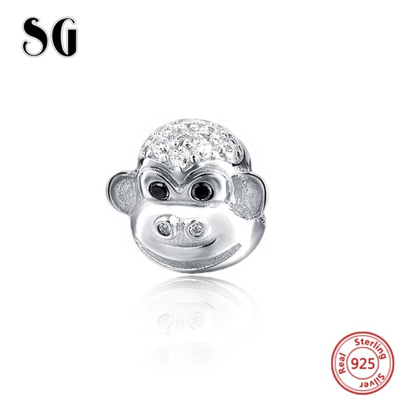 Jewelry & Accessories Beads & Jewelry Making New 925 Sterling Silver Cute Monkey Pendant Bead Fit Original Pandora Bracelet Necklace Animal Enamel Charm For Girl Diy Jewelry In Many Styles