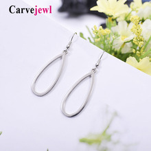 Carvejewl drop dangle earrings simple metal small tear drop earrings women jewelry girl gift plastic hook anti allergy earrings цена и фото