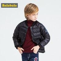 Balabala 2017 Winter jas voor jongens Kinderen causale eend donsjack grijs eendendons Parka kids Down Jassen bovenkleding jassen