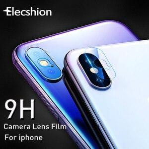 Image 1 - 9H téléphone portable caméra Len écran protecteur verre pour iPhone X 7 6 5 6S 8 Plus caméra Film verre trempé pour iPhone XR XS XSmax
