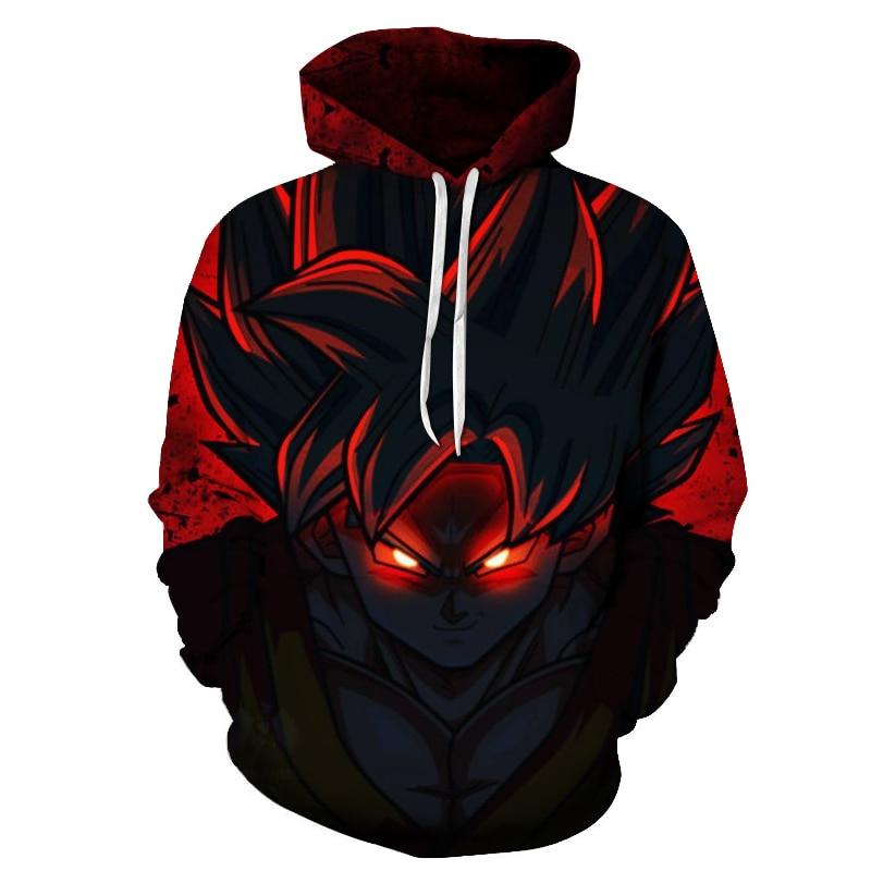 New Hoodies Super Saiyan Red Goku Fighting together Hoodies Pullovers Men Women Long Sleeve Outerwear New Hoodies