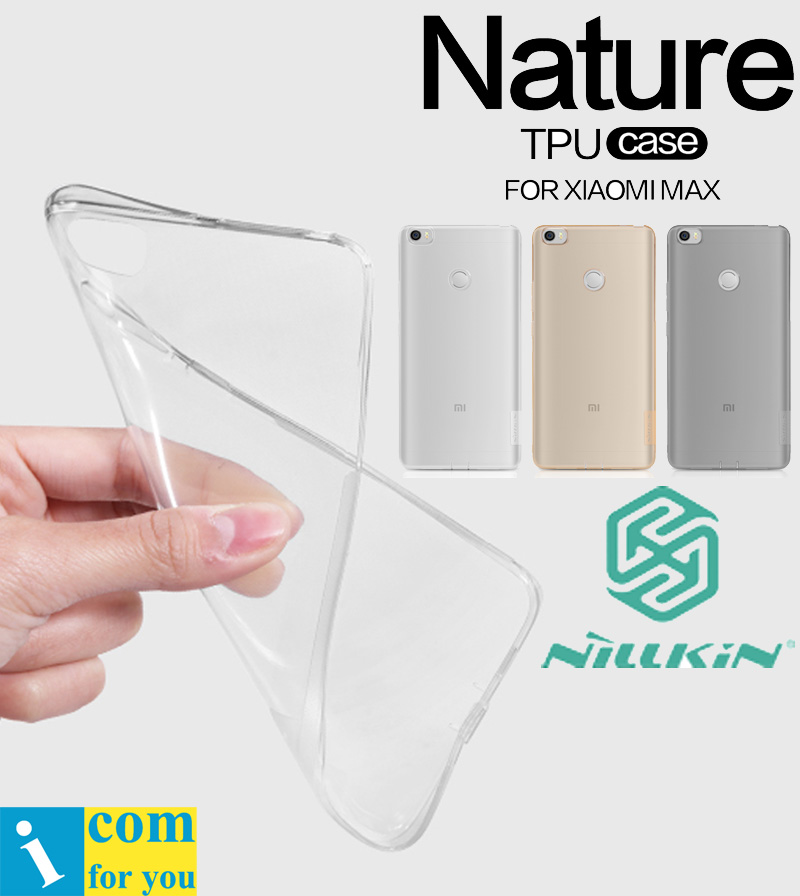 Nillkin Nature Transparent Silicone Souple TPU Étui de protection Couverture Pour Xiao mi mi mi x 2 s MAX 3 2