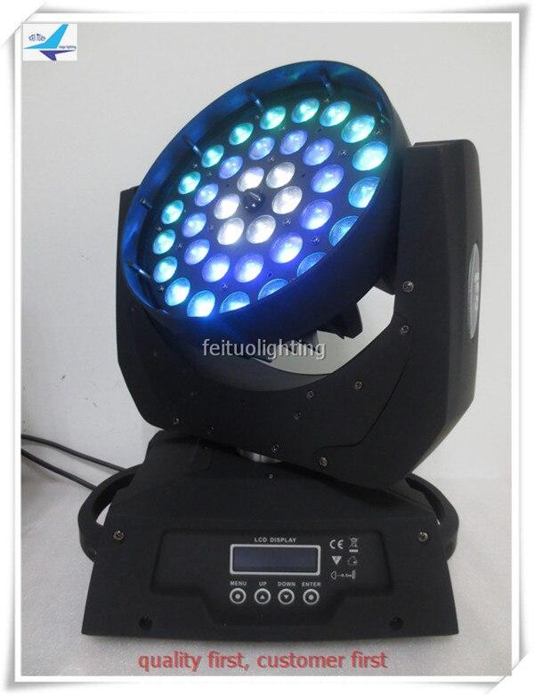 T RGBWA+uv 36x18W LED Moving Head Wash Zoom Light,6in1 LED Wash 36*18W Moving Head Light 3 circles effect