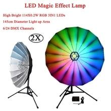 2Pcs/Lot 114x0.2W RGB LED Magic Stage Effect Lighting Professional Disco Club DJ KTV Music Light Sound Party Lights