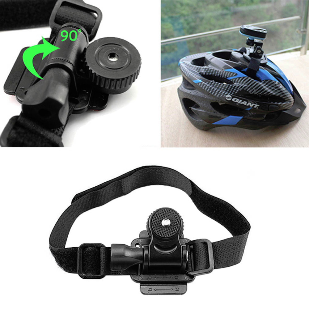 adjustable head vented helmet strap mount for mobius. Black Bedroom Furniture Sets. Home Design Ideas