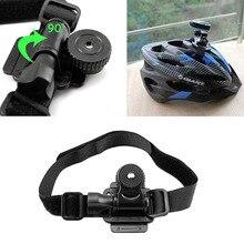 Регулируемая Глава Вентилируемый Шлем Крепление Ремня для Mobius ActionCam Спорт Видеокамера DV DVR Шлем Велосипеда Велосипед Держатель новый