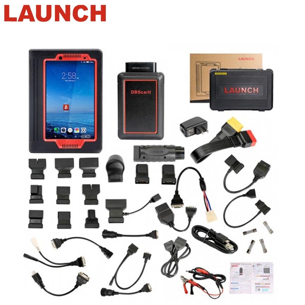 Date Lancement X431 V Wifi/Bluetooth 8 pouce Tablet Système Full Auto OBD2 Voiture Outil De Diagnostic lecteur de Code 2 année Mise À Jour Gratuite X431V