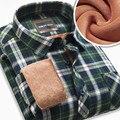 Мужчины Топы Blusa Camisa Вскользь Рубашки Мужские блузка рубашка мужской Повседневная одежда зима теплая рубашка хлопка плед фланелевые рубашки
